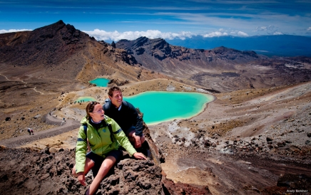 Crater lakes, Tongariro Alpine Crossing Licensed : AT36 L Walking the Tongariro Alpine Crossing is like visiting another planet.