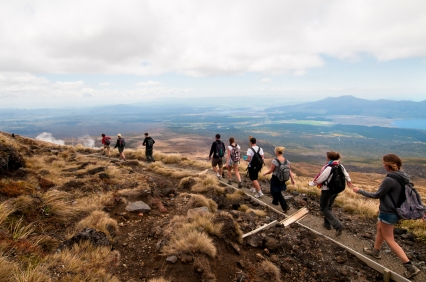 The highest point of the Tongariro Alpine Crossing is 1886 metres above sea level